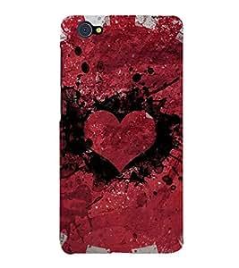 Heart 3D Hard Polycarbonate Designer Back Case Cover for vivo X5Pro :: VivoX5Pro