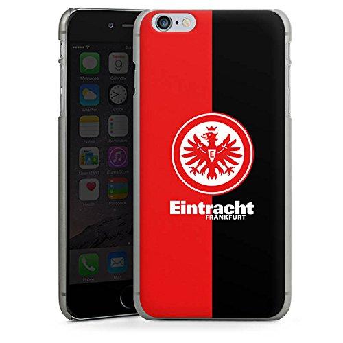 Apple iPhone 6 Tasche Hülle Flip Case Eintracht Frankfurt Fanartikel SGE Bundesliga Hard Case anthrazit-klar
