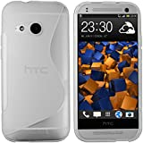 mumbi S-TPU Schutzhülle HTC One Mini 2 Hülle transparent weiss
