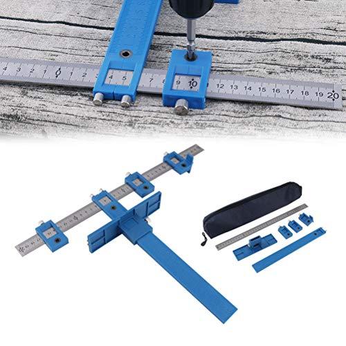 Loch Punch Jig Bohrer Punch Locator, verstellbare abnehmbare Bohrer Guide Sleeve Kabinett-Hardware Edelstahlmöbel Stanzwerkzeug