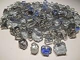Mosaiksteine Bruchglas Mosaik 1000g Blau Grau Crashglas 8mm lose Steine zum Basteln