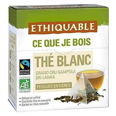 Ethiquable thé blanc pyramide bio 33g - Livraison Gratuite pour les commandes en France - Prix Par Unité
