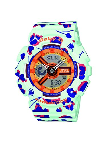 Casio Baby-G Ladies Watch – Analog – Quartz Digital – Cadran ba-110fl-3aer – Multi-Coloured multicoloured Resin Bracelet