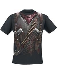 Spiral T-shirt pour homme Motif Holster Wrap Noir