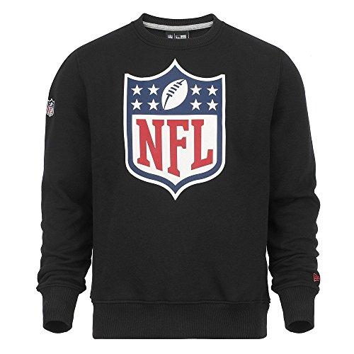 New Era Herren Pullover Crew Neck NFL Team Logo Shield Schwarz
