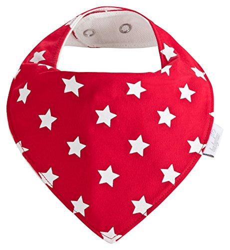 Baby-Lätzchen Set für Mädchen 5 Stück, Dreieckstuch aus Baumwolle in den Farben Rot, Rosa und Weiß, Saugstark und Wasserdicht - Halstücher - Spucktücher - Sabberlätzchen