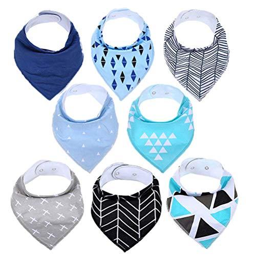 Baby Bandana 8er Pack Sabber Lätzchen | Infant Bandana Lätzchen Set, weiche Bio-Baumwolle, extra saugfähigen Lätzchen für Kinderkrankheiten Kleinkind, niedlichen Baby-Geschenke für dein ()