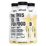 YFood Drink (6 x 500kcal) - Kein Proteinshake, Alles was dein Körper braucht - 25% der täglichen Nährwerte, 26 Vitamine & Minerale, 33g Protein, Omega 3, Ballaststoffe - Vanille Geschmack