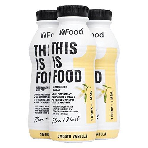 YFood Drink (6 x 500kcal) - Kein Proteinshake, Alles was dein Körper braucht - 25% der täglichen Nährwerte, 27 Vitamine & Minerale, 33g Protein, Omega 3, Ballaststoffe - Vanille - Liege Deckt