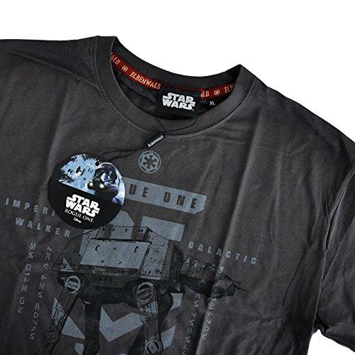 Star Wars Herren T-Shirt AT-ACT Rogue One von Elbenwald Baumwolle grau Grau