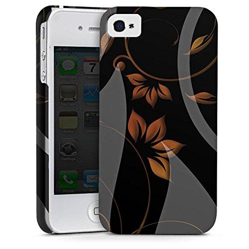 Apple iPhone X Silikon Hülle Case Schutzhülle Ornamente Blumen Muster Premium Case glänzend