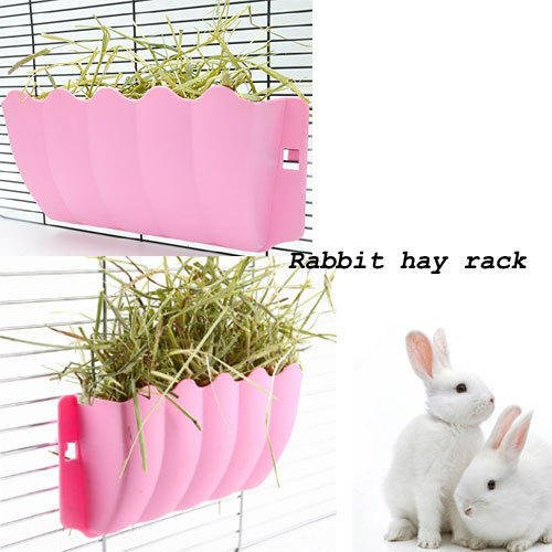 Sage Square Portable Rabbit, Guinea, Pig, Ferret Hay Rack/Grass Feeder/Holder and Cage Attach