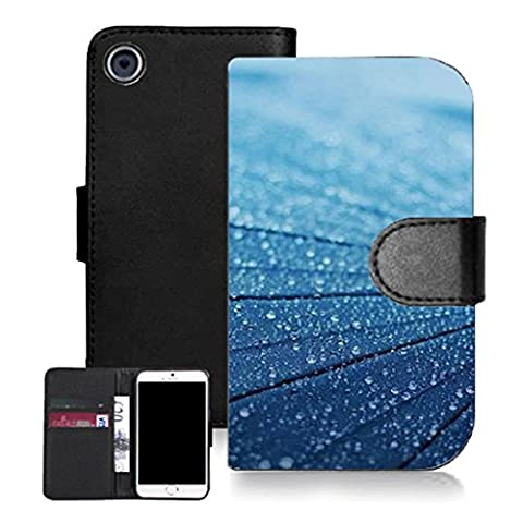 Mobile case mate noir pu porte-feuille en cuire coque etui case pour iphone 3gs -blue lumber