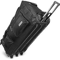 normani Reisetasche Jumbo Big-Travel mit Rollen riesige XXL V4 5. Generation Neu Farbe Schwarz/150 Liter