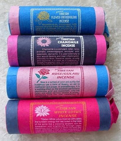 Tibetische/Nepalesische Räucherstäbchen Rhododendron, Kamille, Lotus & (Nature Aid Rose)