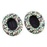 Bingle Remplacement Oreillettes en Mousse Coussin d'oreille Coussin pour Bose Calme Confort 35 QC35 Autour des écouteurs d'oreille Coussinets et Tapis de Mousse intérieure (1 Paire de Vert d'armée)
