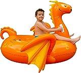 Floatie Kings Kinder Drachen Party Pool Luftmatratze - Hochwertig Aufsitz Aufblasbar