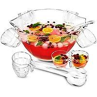 bar@drinkstuff Acryl-Schüssel-Set, vielseitig, als Salatschüssel und Bowleschüssel zu verwenden