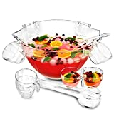 Glacier acrilico punch Bowl set – multiuso, ciotola e ciotola per insalata in one, cocktail Bowl