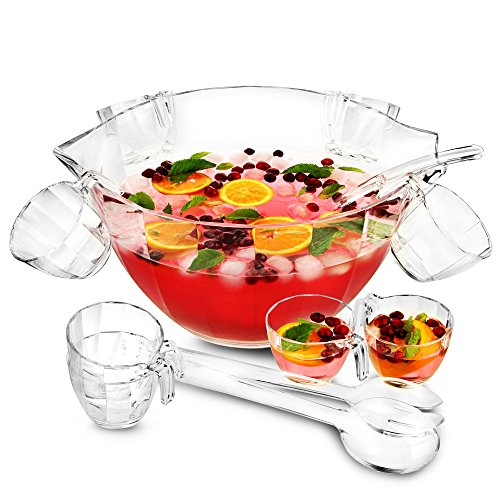Gletscher Acryl Set Bowle Punch–Multi Zweck Bowle und Salatschüssel in One, Cocktail Schüssel