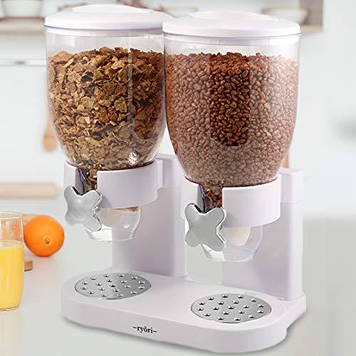Ryori Kitchen - Dispensador de cereales y alimentos secos, de plástico transparente...