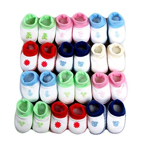 Sapatos De Bebê Primeira Nascidos Calçados Coloridos Motivo 0-4 Meses Azul Claro