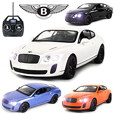 Comtechlogic® CM-2119 Official Licensed 1:14 Bentley Continental GT Sports Coupe Radio Controlled RC Electric Rechargeable Car - Ready To Run EP RTR – White