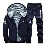 Men's Winter Warm Casual Tracksuit Hooded Two Piece Set Jogging Suit Sport Suit Long Sleeves Leisure Suit