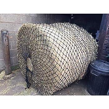 Elico Teintagel Filet à foin XL noir pour contenir de grandes balles pour une utilisation sur le terrain ou dans la cour - pour que les chevaux et les poneys mangent moins vite