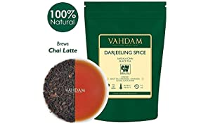 VAHDAM, Darjeeling Spiced Masala Chai Tea (50 Cups) | 100% NATURAL SPICES | Darjeeling Tea, Cardamom, Cinnamon, Clove, Pepper | Spiced Chai Tea Loose Leaf | Brew As Hot, Iced Tea or Chai Latte | 100gm