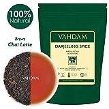 VAHDAM, Tè Masala Chai speziato Darjeeling (100 tazze) | Tè Darjeeling, Cardamomo, Cannella, Chiodi di Garofano, Pepe | Foglia sciolta speziata Chai Tea | Chai Latte | 100g (set di 2)