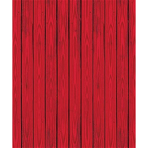 Red Barn Siding Backdrop Party Accessory (1 count) (1/Pkg) by Beistle