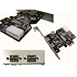 KALEA-INFORMATIQUE - Carte Controleur PCIE FIREWIRE 800 IEEE1394B sur port PCI EXPRESS 1x (PCI-E) - 2+1 Sorties - Chipset TI TEXAS INSTRUMENTS