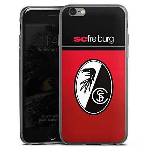 DeinDesign Apple iPhone 6s Slim Case transparent anthrazit Silikon Hülle Schutzhülle SC Freiburg Fanartikel Scf Fussball