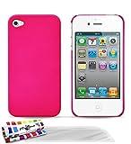 Hartschale schmal Apple iPhone 4S [Le Pika] [Bonbonrosa] von MUZZANO + 3Schutzfolien Set