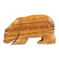 Madera spielerei pu1498–Trick Caja oso