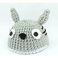 Gorro de Lana del personaje Totoro de Mi Vecino Totoro, hecho con lana en Ganchillo