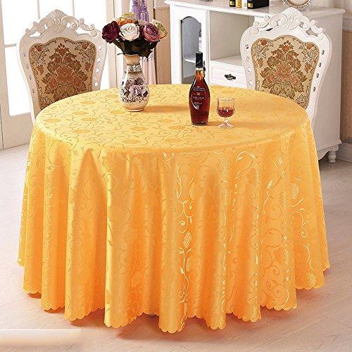 Imperméable nappe Nappe d'hôtel Toile de table en tissu Manteau de salon Tissu rond de table ronde (3 couleurs en option) (taille facultative) pour dîner ( Couleur : C , taille : 240CM )