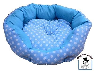 Gorgeous Lunares, Color Azul y Blanco perro cama para perros pequeños