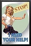 empireposter Vintage Pin Up–Help–dimensioni (cm), ca. 20X 30–Specchio - Best Reviews Guide
