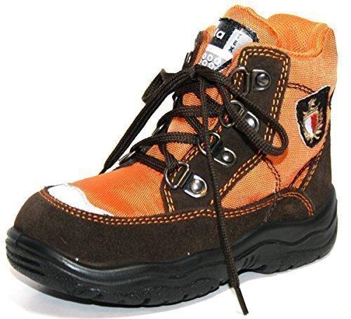 Jela Tex Chaussures Pour Enfants 61.123 Garçons Bottines Bottines Marron (brun Foncé/orange 27)