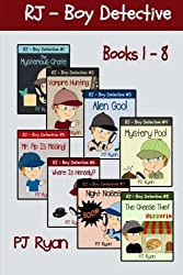 RJ - Boy Detective Books 1-8: Fun Short Story Mysteries for Children Ages 9-12