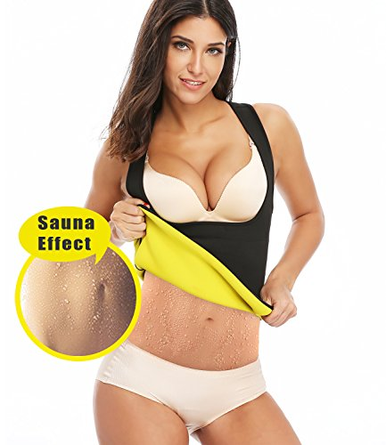 SEXYWG Damen Trainingsweste Hot Thermo Shapewear Neopren Sauna Sweatanzug Sport Korsett Training Taillenkorsett Fitnessanzug