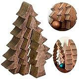 LS-LebenStil 3X XL Design Deko Holz Weihnachtsbaum Set 3-teilig Braun Holz-Baum X-Mas