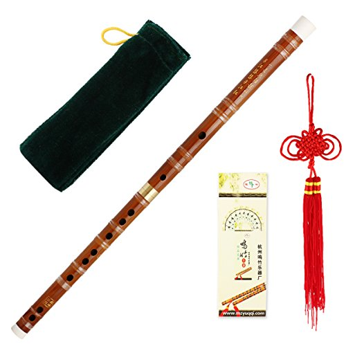 Kmise Chinesisches Musikinstrument Bambusflöte / dizi In D Steckbare traditionelle handgemachte