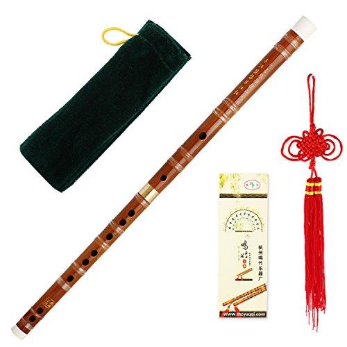 Kmise Chinesische Musikinstrument Bambus Flöte/Dizi an D Tonart, einsteckbar, traditionell, handgefertigt