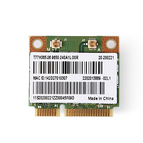 Richer-R Wifi Karte, Mini 2 in 1 Bluetooth 2.4/5G Dual-Band Wifi Wireless PCI-E Karte, 300 Mbps Übertragungsrate 802.11N WLAN Adapter,Geeignet für Computer/Laptops/Industrie-PCs/HTPC - Laptop Wireless-karte