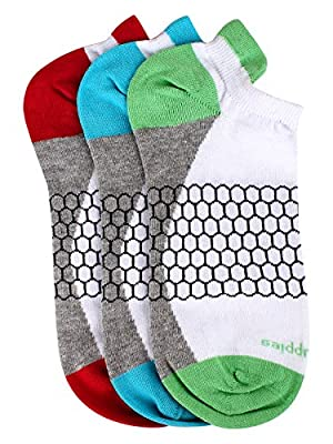 Hush Puppies Women's Sport Ankle Soft Combed Cotton Pack of 3 Pair Socks