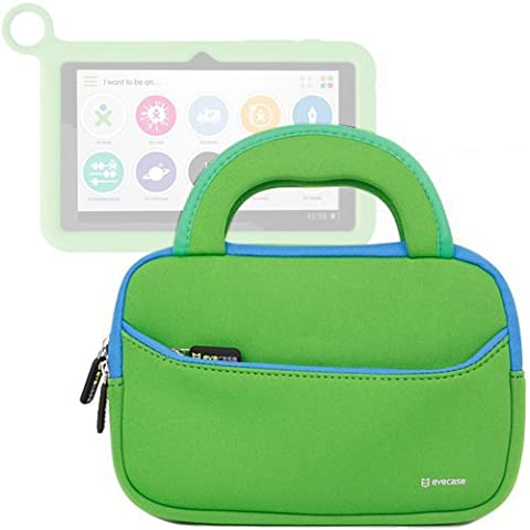 Evecase OLPC XO-780 pulgadas Estuche Maletín Universal de neopreno con manija para OLPC infantil Tablet XO-780 Tablet PC, color verde con borde