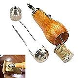 Speedy Stitcher - Kit de costura de costura a mano, kit de herramientas de reparación para velas de piel, lienzo y tela, bricolaje, artesanía de cuero
